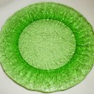 VINTAGE BEAUTIFUL FOREST GREEN GLASS SANDWICH LUNCH PLATE SET OF 3