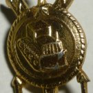 COLLECTIBLE GOLD FILLED TRACTOR LAPEL HAT NECKTIE PIN