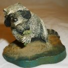 CHARMING RACOON FIGURINE WILDLIFE COLLECTION COLD BRONZE CAST CHARLES EARNHARDT