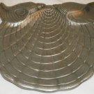 VINTAGE ARTHUR COURT CAST ALUMINUM CHEVRON SHELL CHEESE PLATE PLATTER