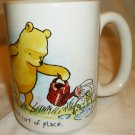 DISNEY STORE WINNIE THE POOH HANDPAINTED PORCELAIN MUG A GARDEN IS A FRIENDLIEST