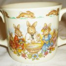 CHILD PORCELAIN DOUBLE HANDLE MUG BUNNYKINS ENGLAND FINE BONE CHINA ROYAL DOULTON