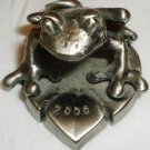 CHARMING MINIATURE PEWTER FIGURINE FROG 2000