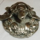 CHARMING MINIATURE PEWTER FIGURINE TURTLE 2001