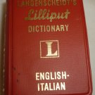 MINIATURE LANGENSCHEIDT'S LILLIPUT DICTIONARY ENGLISH ITALIAN #215