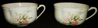 VINTAGE JAMMET SEIGNOLLES LIMOGES EXCLUSIVE FRANCE SET OF 2 DEMITASSE TEA CUPS