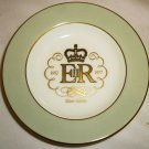 WEDGWOOD ROYAL SILVER JUBILEE ELIZABETH II COMMEMORATIVE BONE CHINA PLATE UK