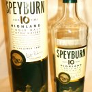 COLLECTIBLE EMPTY SPEYBURN 10 YEAR SINGLE MALT SCOTCH WHISKY BOTTLE W/GIFT BOX