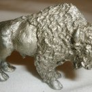 MINIATURE PEWTER FIGURINE BISON BUFFALO