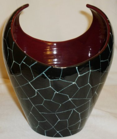 VINTAGE SAN POLO VENEZIA ITALY ART POTTERY UNIQUE VASE BOWL