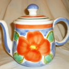 BEAUTIFUL HANDPAINTED TEA POT ELIZABETH BARRETT ROACHE ITALY