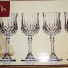 CRISTAL D'ARQUES PARIS  LONGCHAMPS 4 2 OZ LIQUEUR STEMMED GLASSES FRANCE CRYSTAL