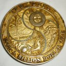 COMMEMORATIVE TRW DSSG 1980 BILLION DOLLAR YEAR SEASONS PAPERWEIGHT MEDAL COIN