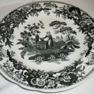 SPODE ARCHIVE COLLECTION 'GIRL AT THE WELL' UNDERGLAZE PORCELAIN PLATE ENGLAND