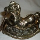 CHARMING SILVERPLATE ROCKING HORSE BY LEONARD ITALY COIN PIGGY BANK