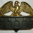 VINTAGE WILTON AMERICANA CAST IRON PAINTED EAGLE MATCH HOLDER