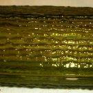 VINTAGE ANCHOR HOCKING AVOCADO GREEN SORENO TEXTURED GLASS BUTTER DISH