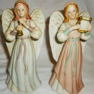 CHARMING VINTAGE CHRISTMAS DECORATION HEAVENLY DUET ANGELS 1422
