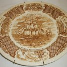 """ALFRED MEAKIN STAFFORDSHIRE ENGLAND FIRE WINDS 10.5"""" PLATE HISTORICA SCENES"""