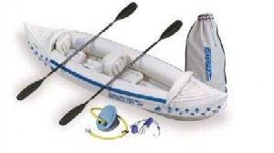 Sea Eagle 330 Delux Inflatable Kayak Includes Seats Paddles and Pump (FREE SHIPPING)