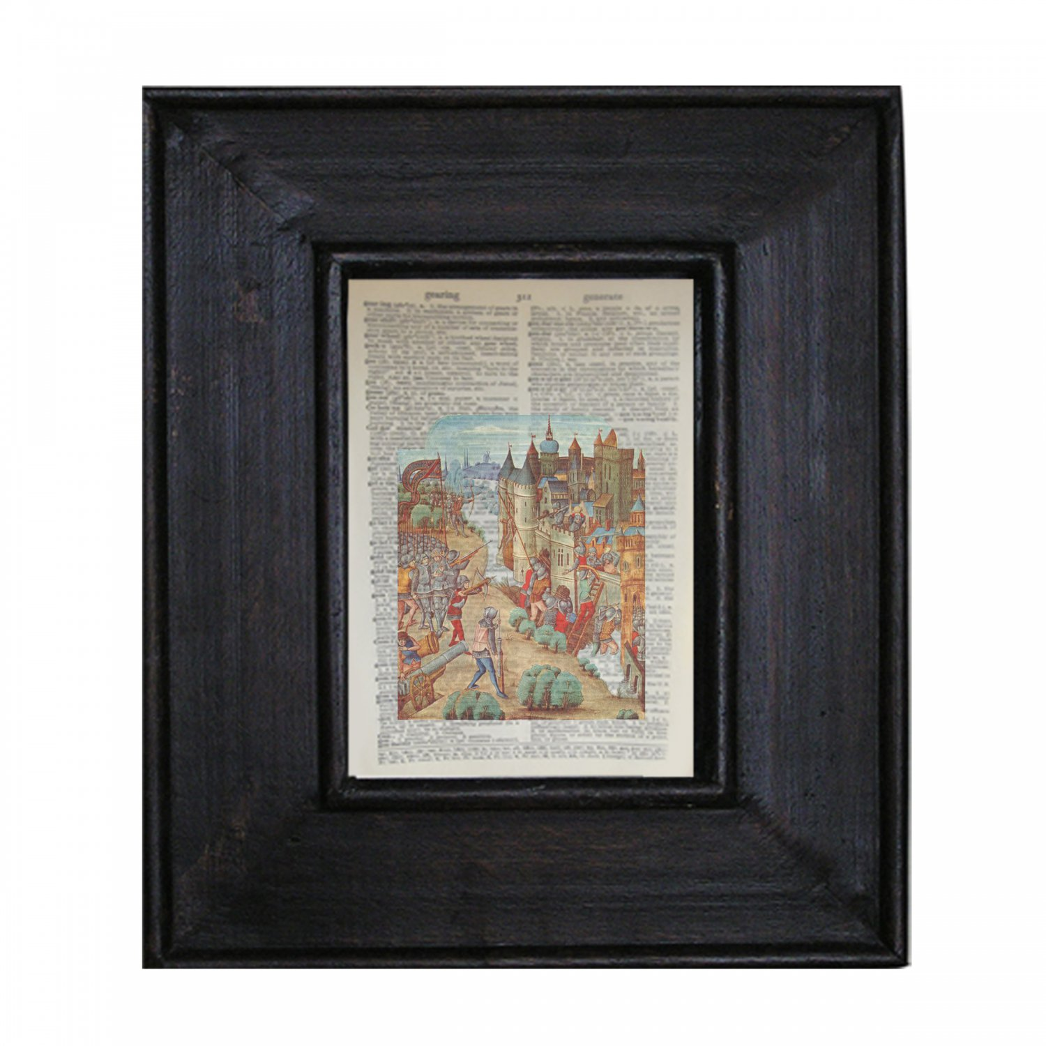Vintage Illustration and Antique Book Pages Make Stunning Wall Art