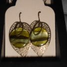 Handmade Antique Brass Leaf Earrings