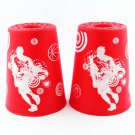 12 Pcs Sport Stacking Speed Stacks Cups Cool Red (Cup Stacking) Competitive Game