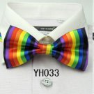 5 PCS Rainbow Adjustable Neutral Bow Tie