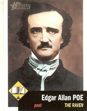 Edgar Allen Poe - Poet - 2009 Topps Heritage Card # 4