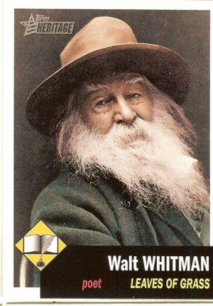 Walt Whitman - Poet - 2009 Topps Heritage Card # 7