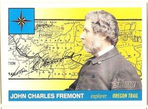 John Charles Fremont - Explorer -2009 Topps Heritage Card # 18