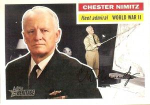 Chester Nimitz - Fleet Admiral 2009 Topps Heritage Card # 27