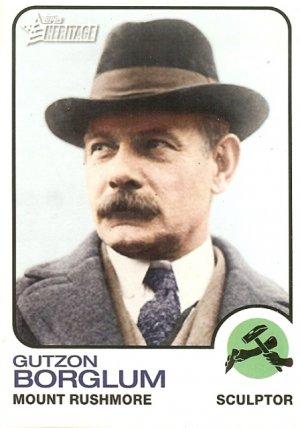 Gutzon Borglum - Sculptor 2009 Topps Heritage Card # 62