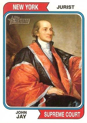 John Jay - Supreme Court 2009 Topps Heritage Card # 75