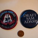 Vintage 2 Sam Adams Best Beer in America Pinback Badge Buttons Pins