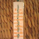 Vintage Weve-A-Gift Silk Woven Bookmark Bible Bookmark Matthew 17 20