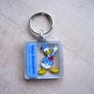 Vintage Disney Lucite Tokyo Disneyland Key Ring Donald Duck 80s or 90s Disneyana