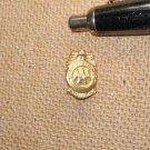 2 Vintage AAA Patrol Service Badge Mini Award Gold and Silver Tone Lapel Pins
