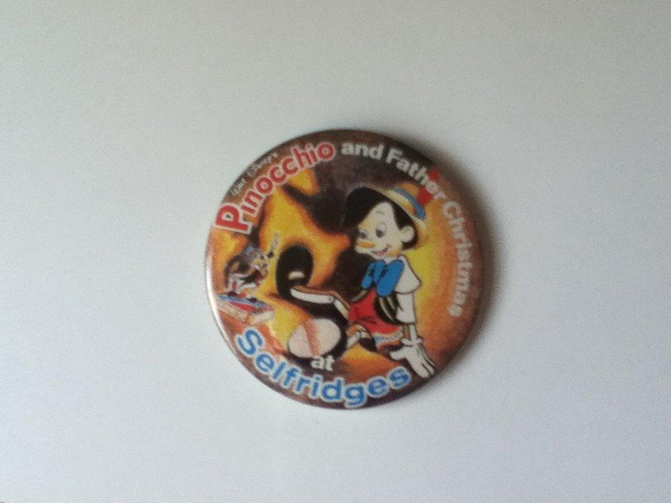 VINTAGE 80s Disney Pinocchio London Selfridges Christmas 1980s Unique Disneyana
