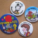 Childrens Literature Buttons US and UK Pins Badges Wind in the Willows,
