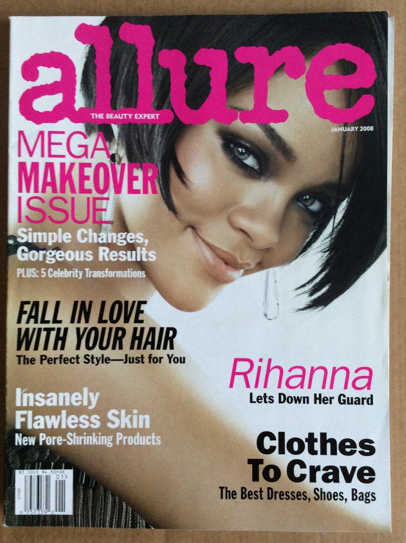 Allure Magazine Back Issue January 2008 Rihanna Guard Down Flawless Skin