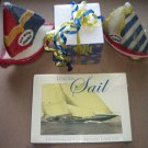 Flat Rate Fun Box Stuffed with Sailing Boat Theme Nautical Cards Candles Gift Items