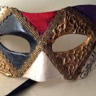 Vintage Mixed Media Handpainted Mask Art Venetian Masquerade Colombina Carnival Mezza Musica