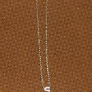 NEW Initial Necklace faux Diamond Letter S Charm on Sterling Silver Chain