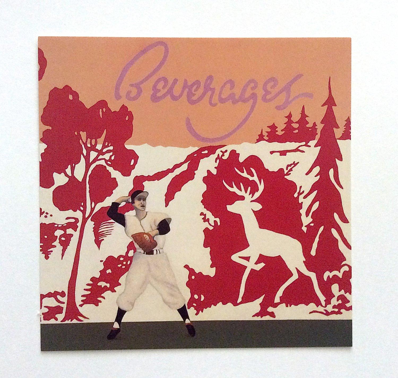BASEBALL ART Vincent Scilla Card Prints SPRING GROVE BEVERAGES Vintage Sport Painting