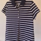 NEW Navy and White Polo Top Merona Golf Tennis Club Collar Shirt Nice Quality Fabric