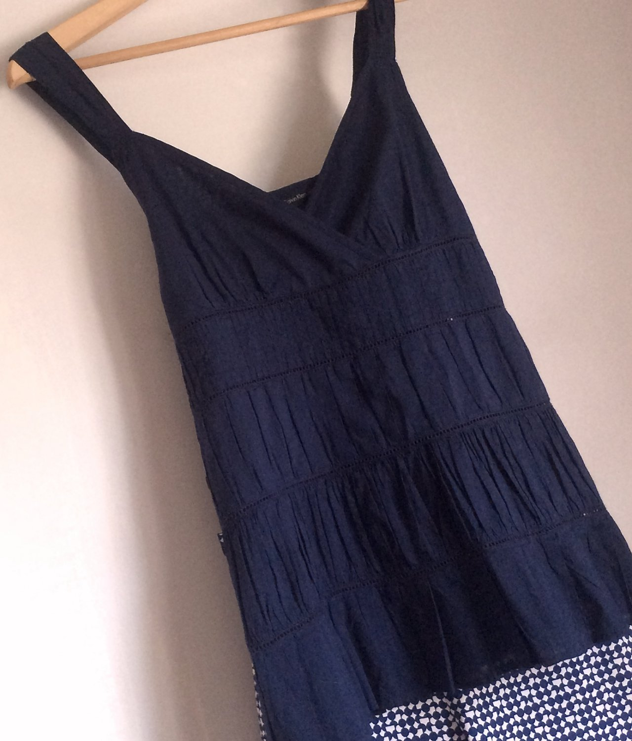 New CALVIN KLEIN Tunic Top Indigo Tiered Sleeveless Tank