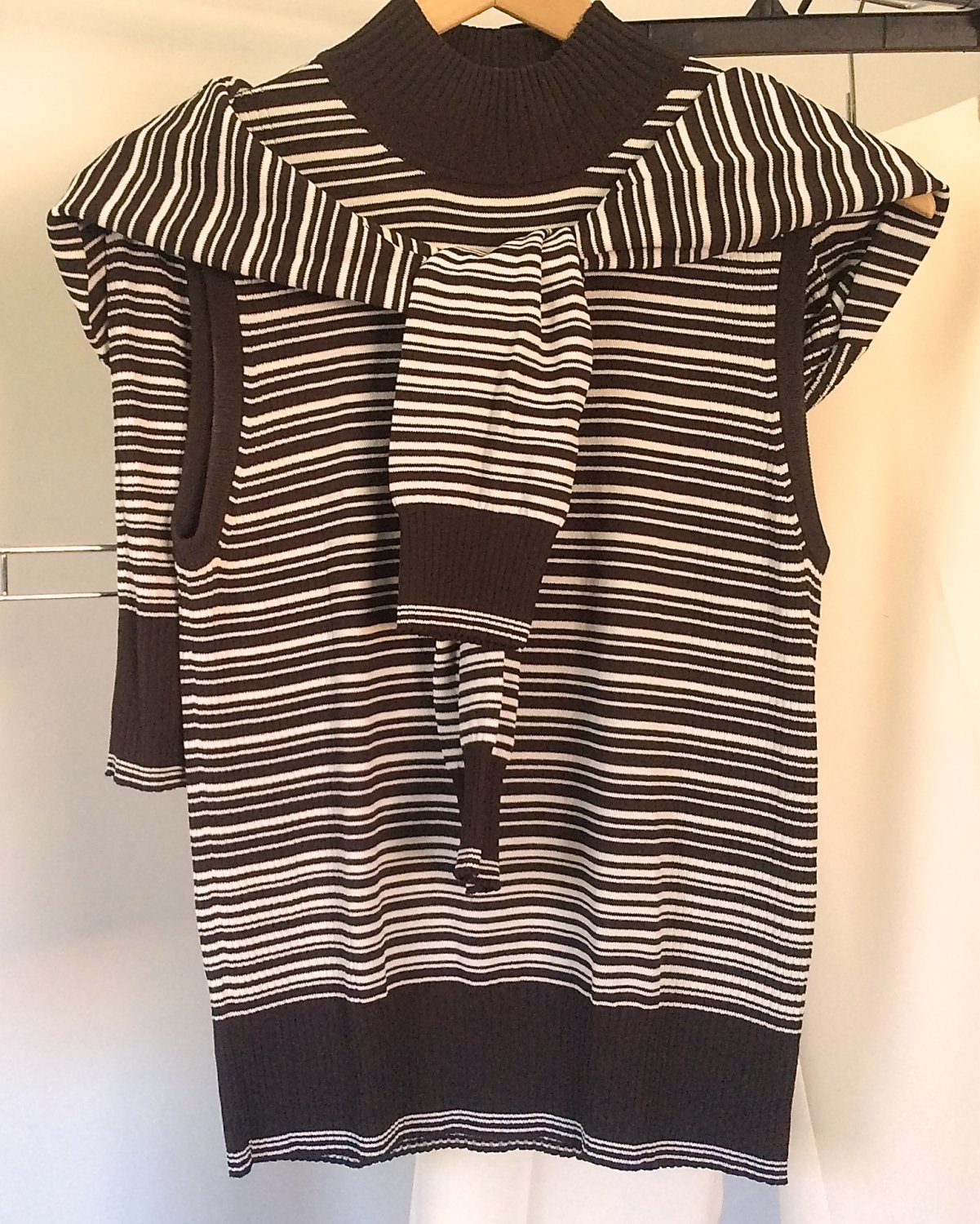 9fdff0b713d76d Anne Klein Top Matching Cardigan Knit Twin Set Sleeveless Mock Turtleneck  Office Outfit Separates