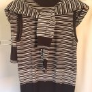 Anne Klein Top Matching Cardigan Knit Twin Set Sleeveless Mock Turtleneck Office Outfit Separates