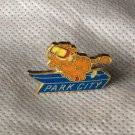 Garfield Hat Lapel Pin Vintage 70s 80s Travel Skiing Ski Park City Utah